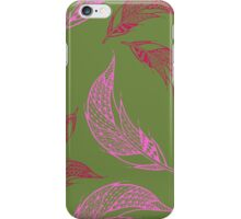 Seamless pattern with hand drawn feather iPhone Case/Skin