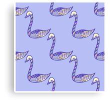 Seamless pattern with hand drawn bird Canvas Print