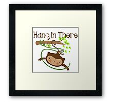 Wild Animals Monkey Hang in There Framed Print