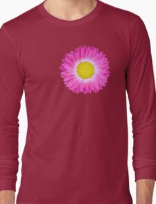 Pink and Yellow Daisy Long Sleeve T-Shirt