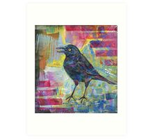 Rusty blackbird painting - 2016 Art Print