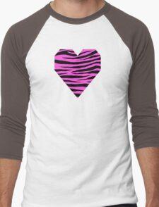 0559 Purple Pizzazz Tiger Men's Baseball ¾ T-Shirt