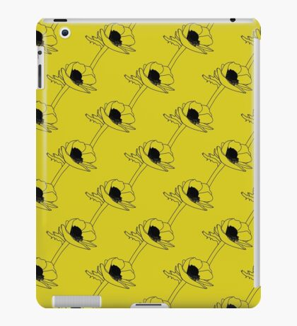 Retro flowers on stems. Seamless pattern.  iPad Case/Skin