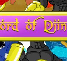 Lord of Djinn group pose Sticker