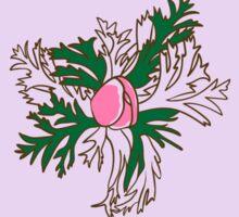 Seamless pattern with bud anemone.  Sticker
