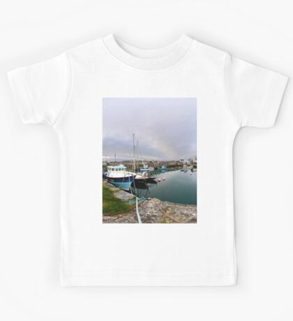 Hurry Head Harbour, Carnlough, County Antrim Kids Tee