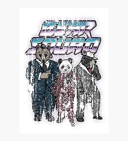 Vintage Grunge Bear Squad Photographic Print