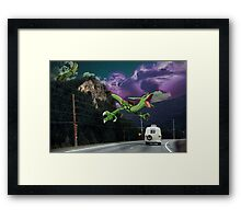 Rayquaza in the Valleys Framed Print