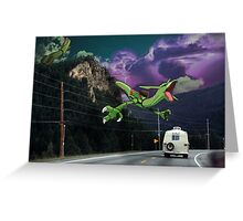 Rayquaza in the Valleys Greeting Card
