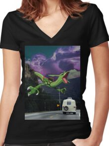 Rayquaza in the Valleys Women's Fitted V-Neck T-Shirt