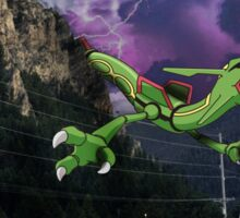 Rayquaza in the Valleys Sticker