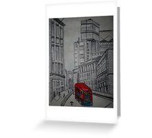 london street illustration Greeting Card