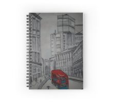london street illustration Spiral Notebook