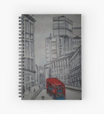 london street illustration Spiral Notebook
