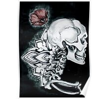Coquelicot Skull Poster