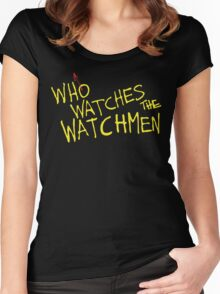 Who Watches? Women's Fitted Scoop T-Shirt