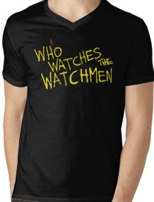 Who Watches? Mens V-Neck T-Shirt