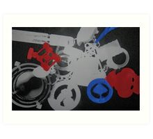 manipulated photograms Art Print