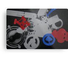 manipulated photograms Metal Print