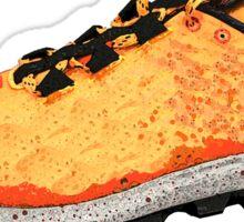 Running Shoe Orange Sticker