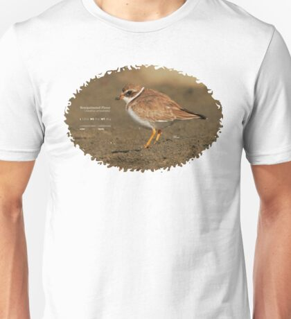 Bird Book Apparel - Semipalmated Plover Unisex T-Shirt