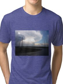 Powerlines, Clouds & Country Roads Tri-blend T-Shirt