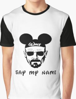 Walter White Say My Name Graphic T-Shirt