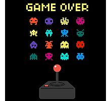 Game Over 8bit Video Game Space invaders Vintage Graphic T-shirt Photographic Print