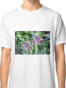 Mystery Wild flowers Purple pattern Nature walk  Classic T-Shirt