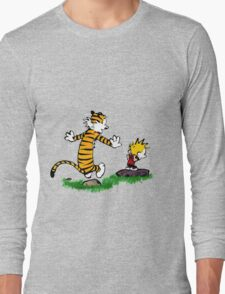 adventure calvin and hobbes Long Sleeve T-Shirt