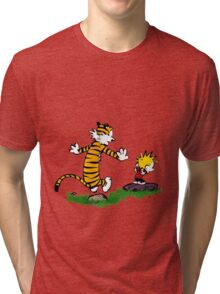 adventure calvin and hobbes Tri-blend T-Shirt