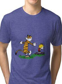 adventure calvin and hobbes Tri-blend T-Shirt