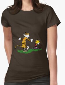 adventure calvin and hobbes Womens Fitted T-Shirt