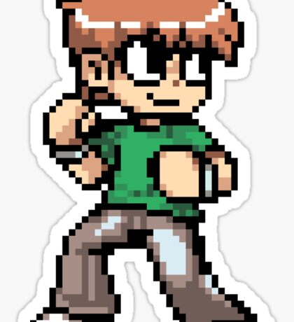 Scott Pilgrim 8-bit art Sticker