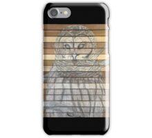 Rustic Snow Owl iPhone Case/Skin