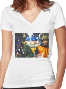 Da$H & RetcH Women's Fitted V-Neck T-Shirt