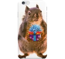 Squirrel with Gift iPhone Case/Skin
