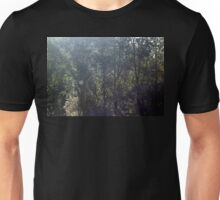 Great Blue Heron in flight at Trojan pond, near Goble, Oregon Unisex T-Shirt