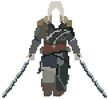 Assassin's Creed IV: Black Flag - Edward Pixel Art Photographic Print
