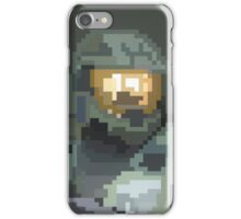 Master Chief Portrait - Pixel Art iPhone Case/Skin