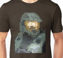 Master Chief Portrait - Pixel Art Unisex T-Shirt
