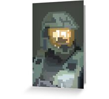 Master Chief Portrait - Pixel Art Greeting Card
