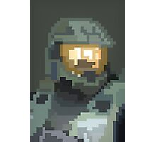 Master Chief Portrait - Pixel Art Photographic Print