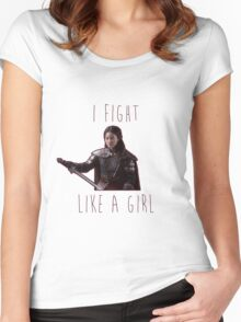 Mulan - I fight like a girl Women's Fitted Scoop T-Shirt