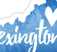 Lexington, Kentucky - blue watercolor Sticker