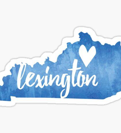 Lexington, Kentucky - blue watercolor Sticker