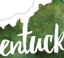 Kentucky - green watercolor  Sticker