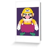 Wario - Pixel Art Greeting Card