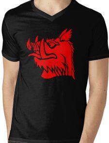 Black knight boar Mens V-Neck T-Shirt