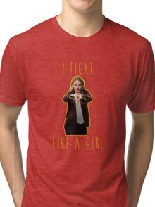 Emma Swan - I fight like a girl Tri-blend T-Shirt